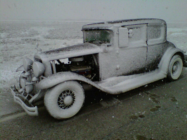 The 31Buick  in the snow